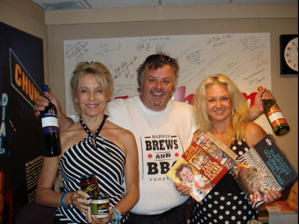 Celebrity Chef Ted Reader on The Wine Ladies radios show 2008, 1050 CHUM.