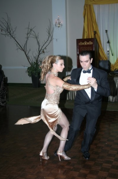 Dancing With a Vision Gala, Tango dancers Rossana and Fabian.
