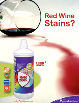 Winning Colours need Wine Stain.
