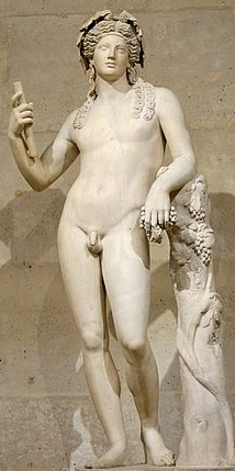 God of the vine, grape harvest, winemaking, wine, ritual madness, religious ecstasy, and theatre