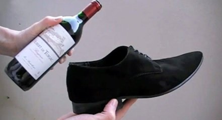 Open wine with a shoe