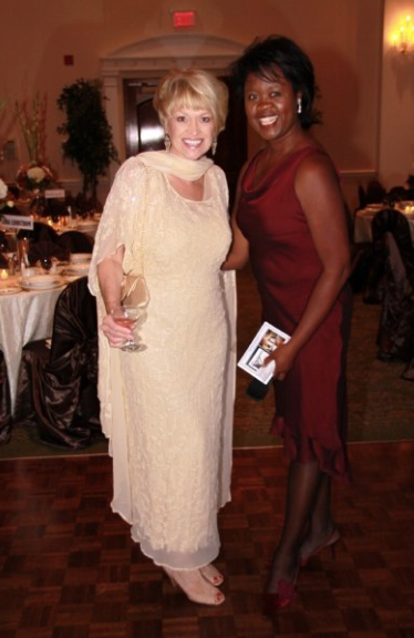 Fashion icon Linda Lundstrom and singer Joy Foster