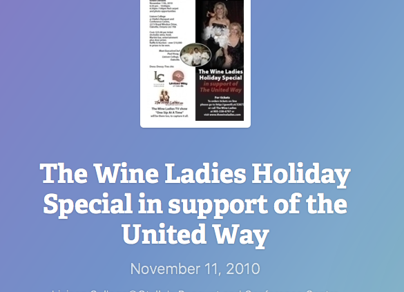 United Way Holiday event., Nov 11, 2010