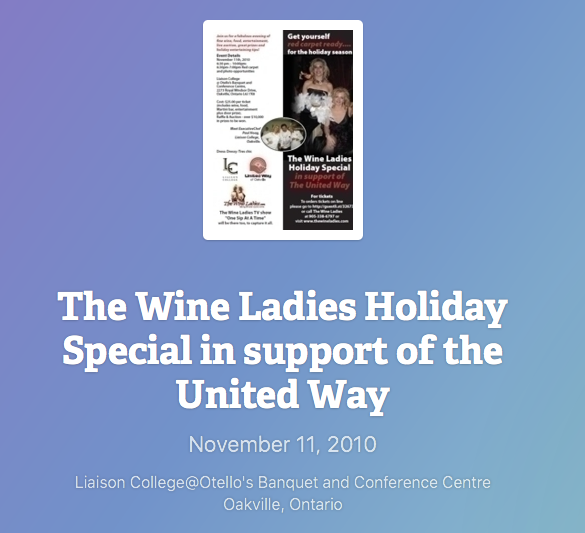 The Wine Ladies Holiday Special for the United Way Holiday Nov 11, 2010