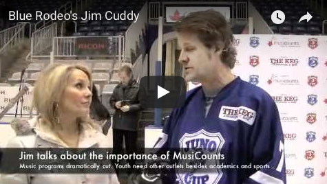 Blue Rodeo's Jim Cuddy at the Juno Cup drills with Georgia, The Wine lLadies TV.