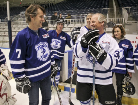 JUNO Cup, The Rockers vs. The NHL Great, Jim Cuddy and Mark Napier.