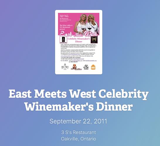East Meets West Celebrity Winemaker's Dinner