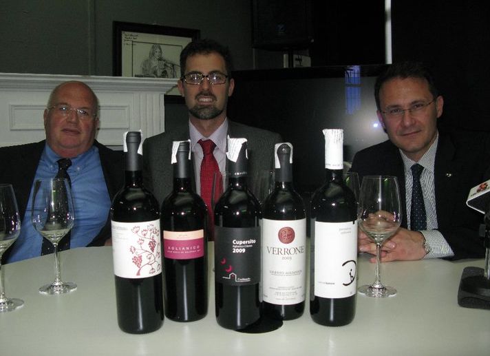 Honorable Edmondo Cirielli President of the Province of Salerno, Mr. Cirielli as well as President of Province of Enoteca di Salerno, Ferdinando Cappuccio.
