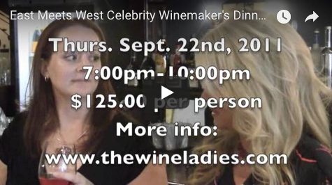 East Meets West Celebrity Winemaker's Dinner The Wine Ladies PROMO