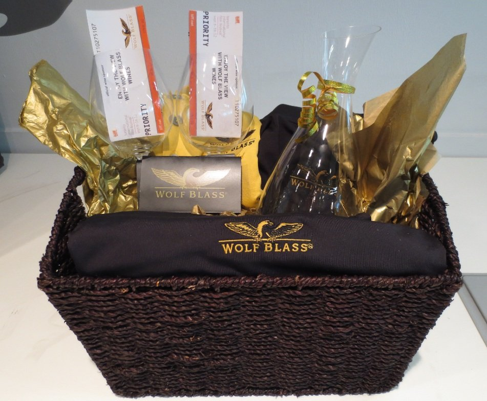 Wolf Blass Wines. Two First Prizes valued at $250.00 each.
