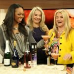 Georgia and Susanne enjoy an IceHouse Sparkling Slushie with Cityline TV host Tracy Moore