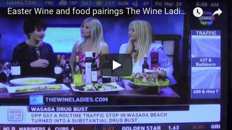 CHCH TV Appearance Easter Wine and Food Pairings.