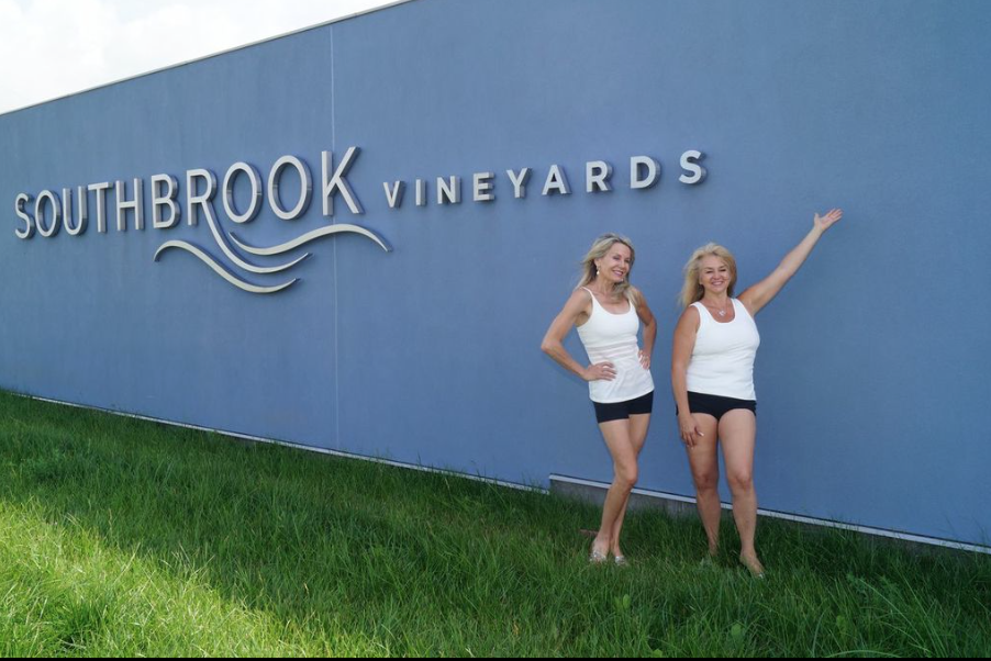 Yoga in the Vineyard Organic Experience, Southbrook Vineyards.