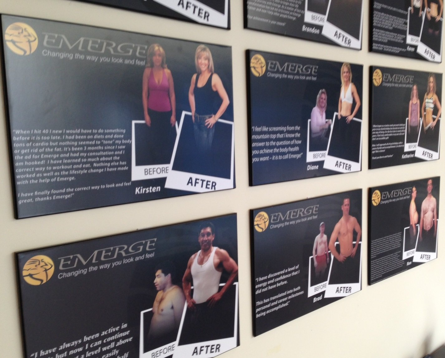 Oh and the testimonials and before and after posters of a few of his clients.... well those helped too.