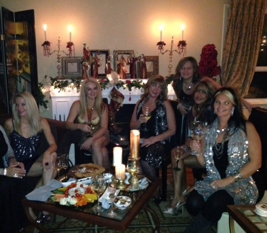 Some of the ladies gracing Susanne's home for the Crystal Soiree.