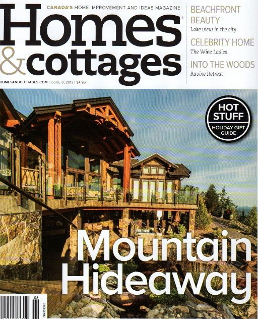 Homes and Cottages Magazine Cover.