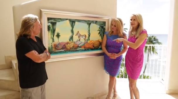 Artist Andrew Hewkin,Barbados, The Wine Ladies TV