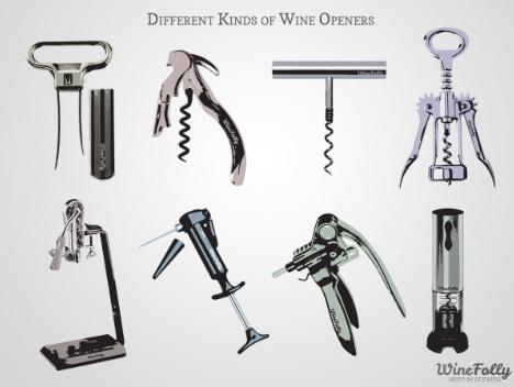 Alternative wine openers and corkscrew.