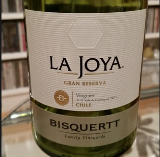 La Joya Gran Reserva Viognier 2014 Bisquertt Family Vineyards