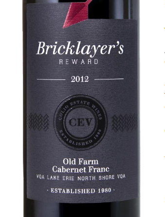 Colio's Bricklayer's Reward Old Farm Cabernet Franc 2012