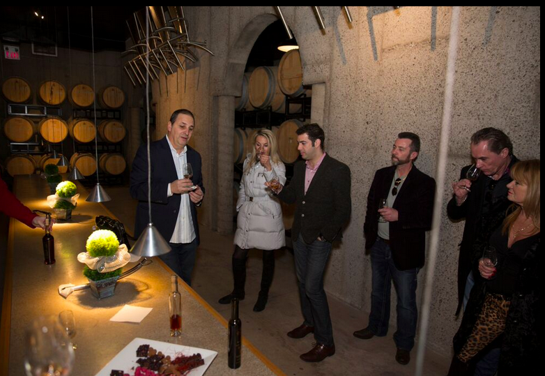 We had a beautiful tasting of Charlie's wines in their stunning barrel room.