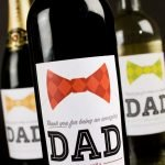 Happy Father's Day wine