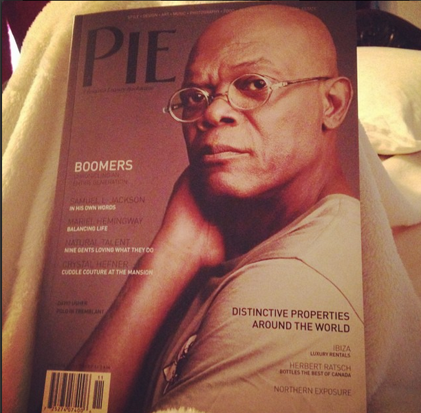 PIE Magazine cover featuring actor Samuel Jackson.