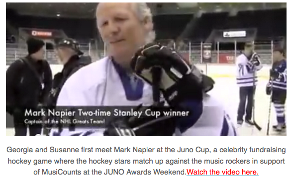 Mark Napier at the Juno Cup