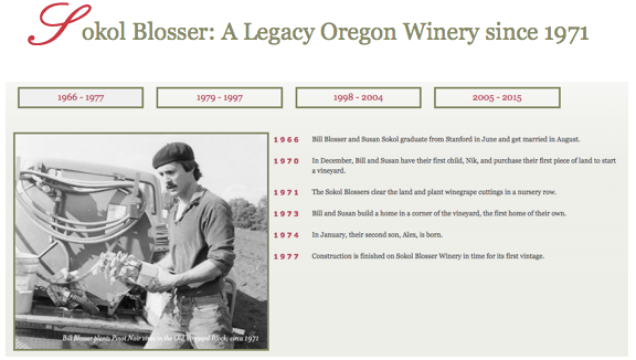 Sokol Blosser, A Legacy of Oregon Wines since 1971.