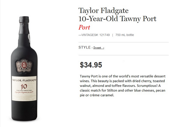 Taylor Fladgate 10-Year-Old Tawny Port.