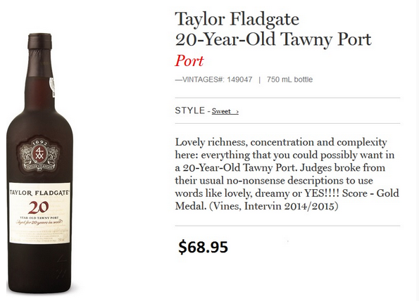 Taylor Fladgate 20-Year-Old Tawny Port.