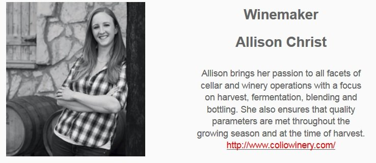 Allison Christ, winemaker Girl's Night Out Wines.
