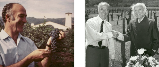 Robert Mondavi and Baron Phillipe de Rothshield