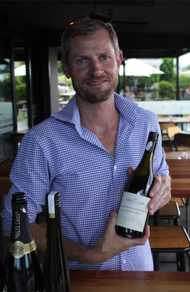 Winemaker Kyle Thompson, Saint Clair Family Estate, Sauvignon Blanc Day 2018