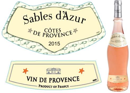 Gassier Sables d'Azur Rosé 2015