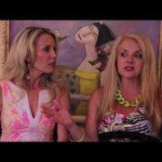 Georgia and Susanne tape The Wine Ladies TV in Peru.