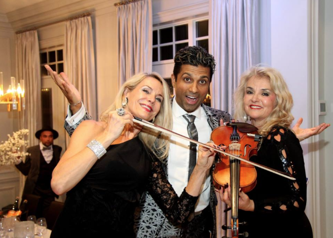 Our annual fundraiser, Raise A Glass To Conquer Cancer, Princess Margaret Foundation. Violinist extraordinaire Grenville Pinto
