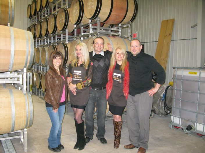 Lou and Adriana Puglisi, PondView Estate Winery and David Levy, Days of Wine and Chocolate. The Wine Ladies Wine Tour.
