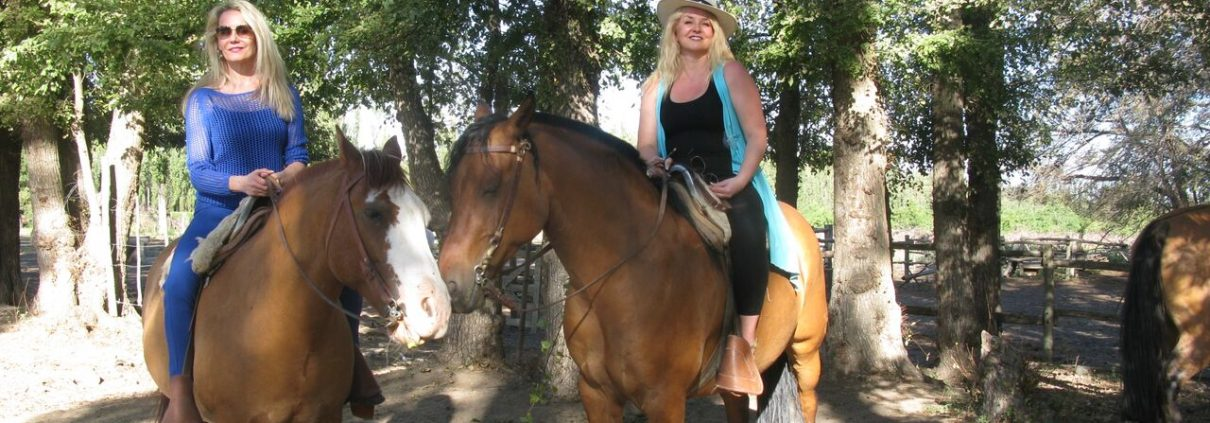 Horseback riding in the vineyard, Bodegas Salentein, Argentina, The Wine Ladies TV.