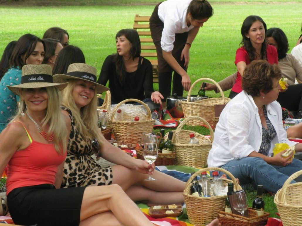 Santa Rita Winery, Chile - International Women's Day journalist picnic.