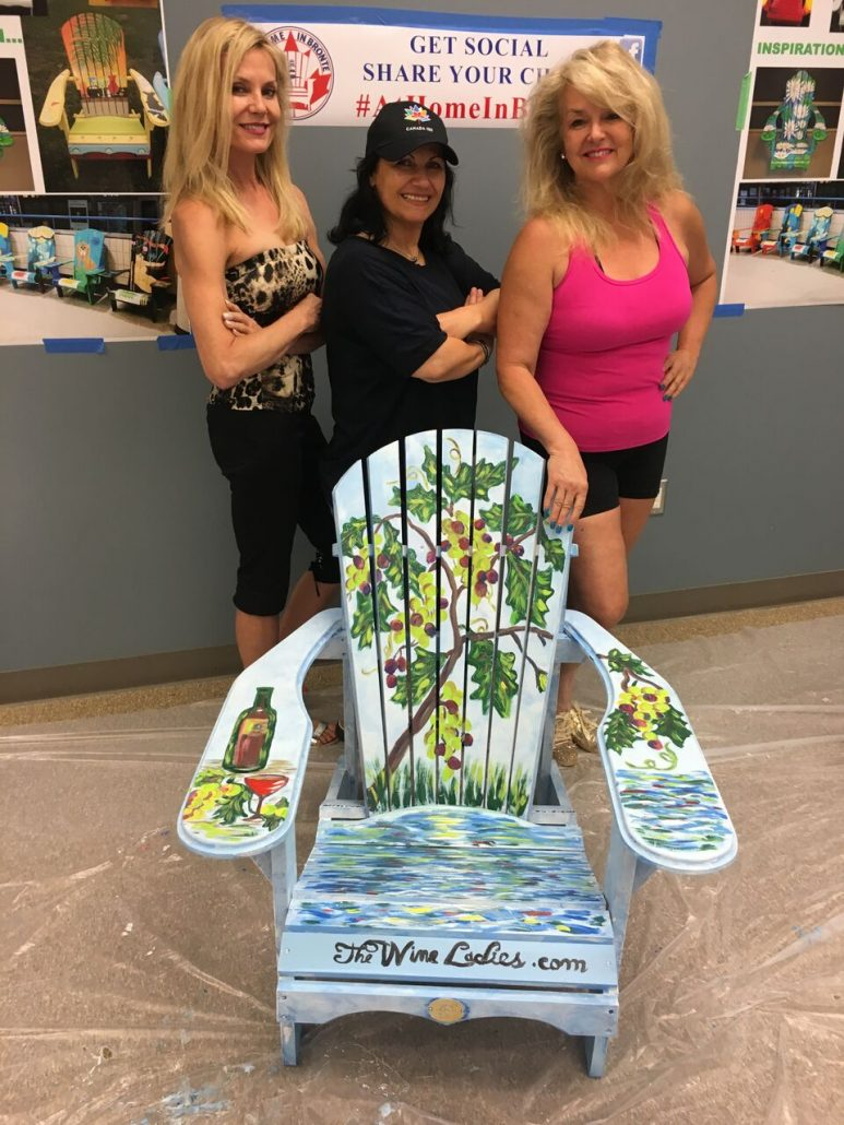 #AtHomeinBronte Muskoka Chair , celebrating Canada's 150th birthday. Our artist secret weapon, Nisreen Art