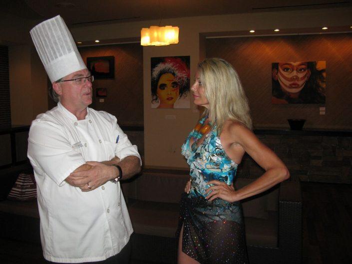 Georgia interviews Executive Chef Matt Boland, Westin Hotel, Aruba, The Wine Ladies TV.