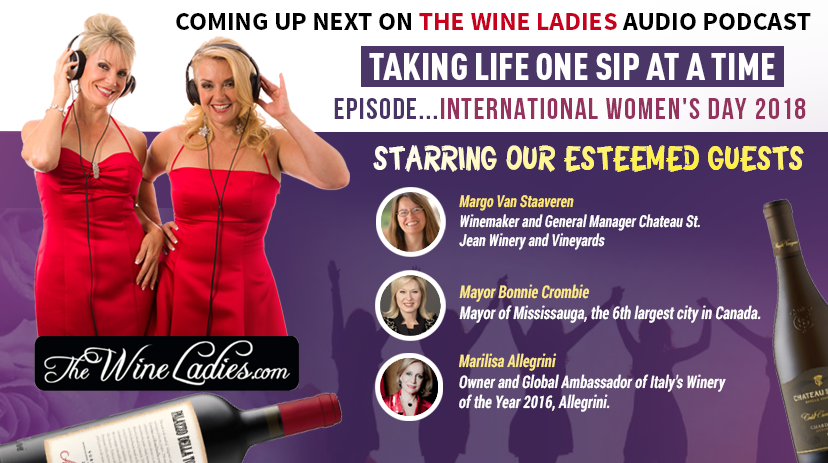 International Women's Day 2018 Audio Podcast with The Wine Ladies