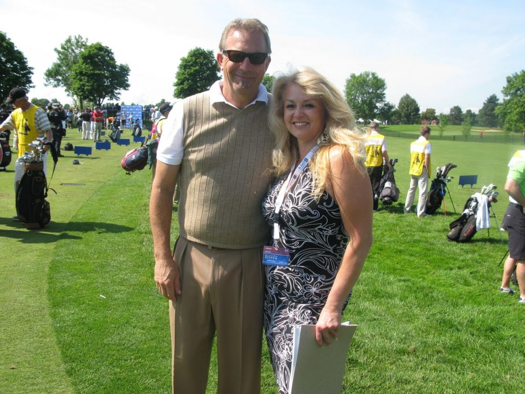 Susanne interviews Kevin Costner @the RBC Canadian Open.