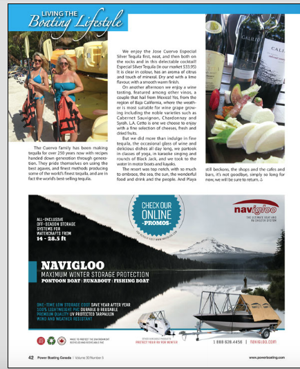 Power Boating Canada, Jose Cuervo Tequila, Page 3