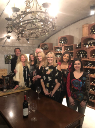 VIP Niagara Icewine Tour Jan 2018 in the Wine Library with guests at Vineland Estates Winery