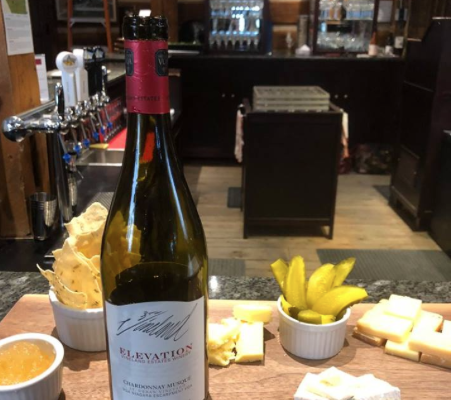 Delicious wine and cheese tasting