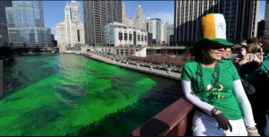Dyeing of the Chicago River, Saint Patrick's Day