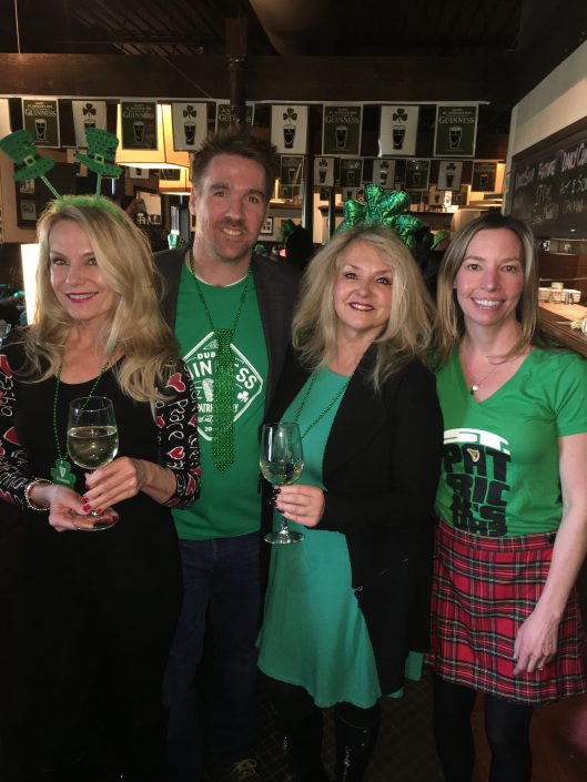 Saint Patrick's Day Celebration at O'Finn's Irish Temper, Oakville. With owner Tyler Born.