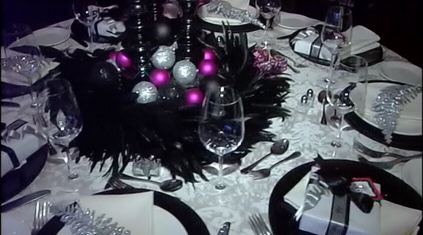 Stunning table decor prepared by Jackie Connolly.